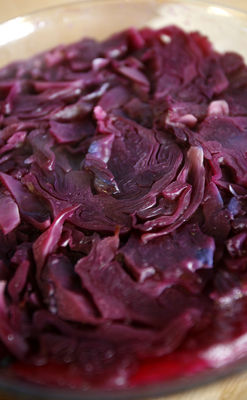 Stir fry red cabbage